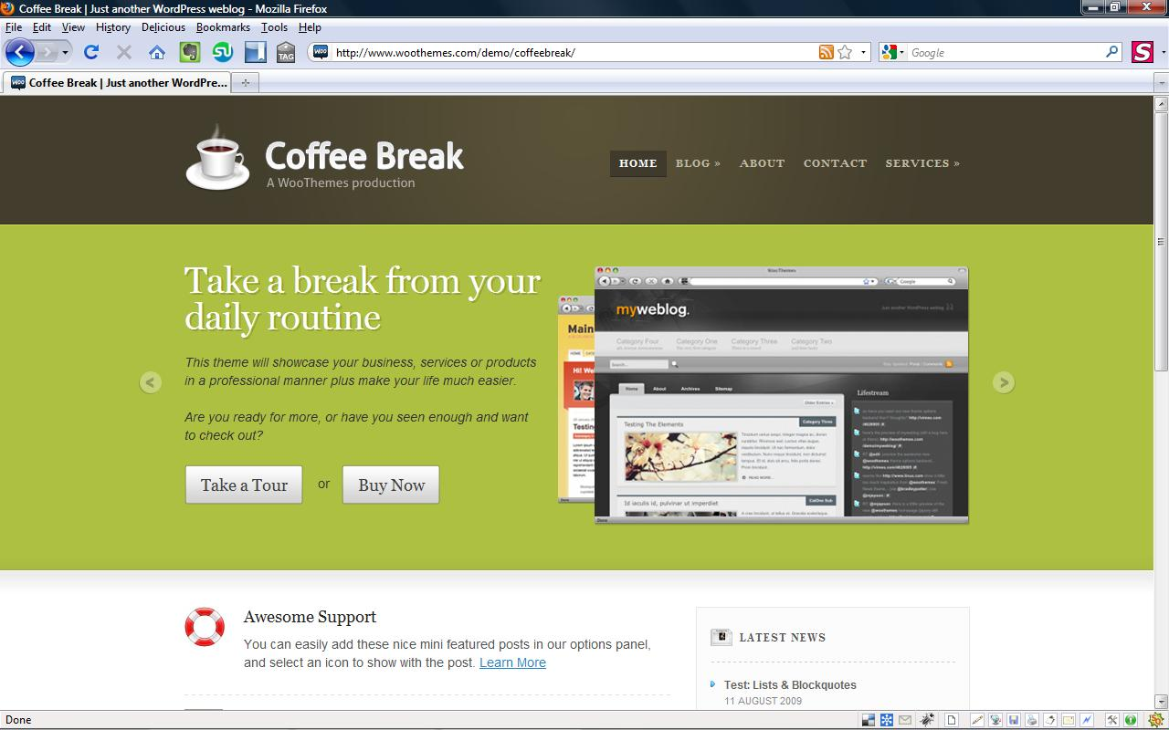 Coffeebreak Minimum Viable Product WordPress theme