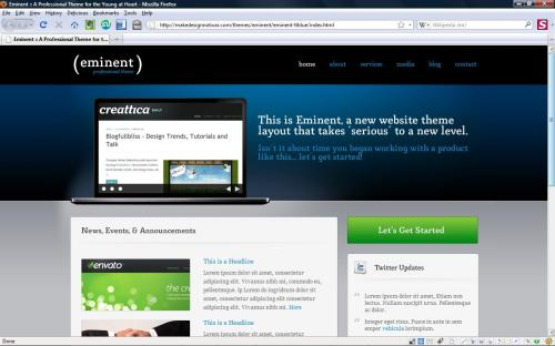 Eminent minimum viable product wordpress theme