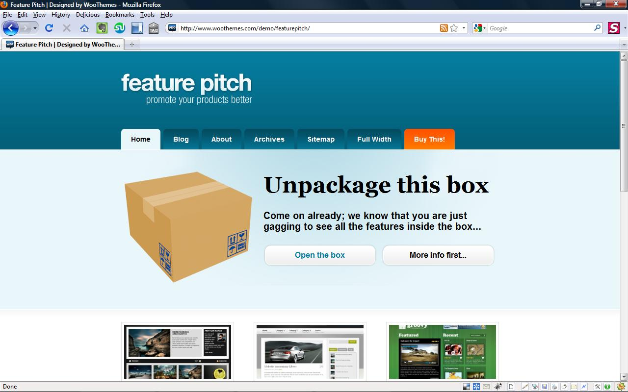 Feature Pitch Minimum Viable Product wordpress theme