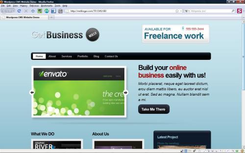 GetBusiness minimum viable product wordpress theme