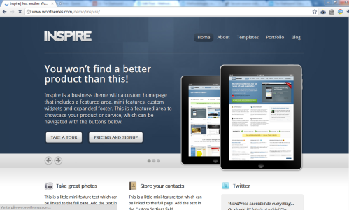 Inspire by Woothemes